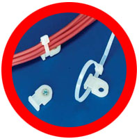low profile cable tie mounts