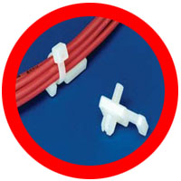 low profile rivet cable tie mounts