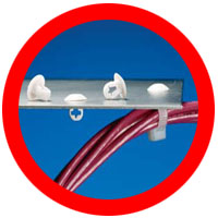 cable tie push button mounts